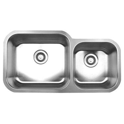 Noahs 33.5 x 17.88 Chefhaus Double Bowl Undermount Kitchen Sink