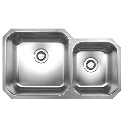 Noahs 33 x 20 Chefhaus Double Bowl Undermount Kitchen Sink