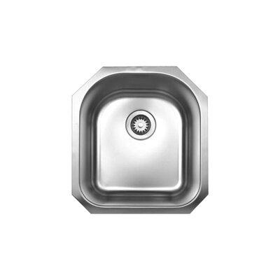 Noahs 18.13 x 20 Single Bowl Undermount Kitchen Sink