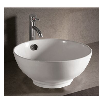 Isabella Circular Vessel Bathroom Sink with Overflow