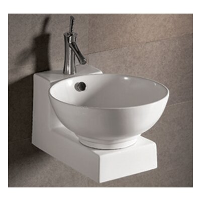 Isabella 16.875  Wall Mount Bathroom Sink with Overflow