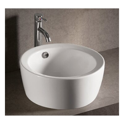 Isabella Circular Vessel Bathroom Sink with Overflow