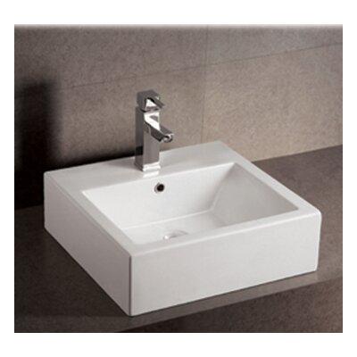 Isabella Ceramic Rectangular Vessel Bathroom Sink with Overflow