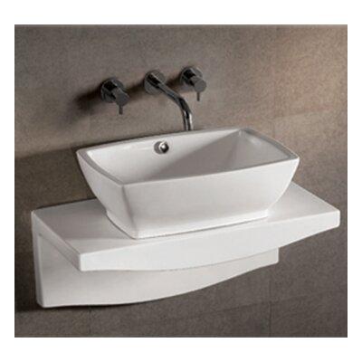 Isabella Rectangular Vessel Bathroom Sink with Overflow