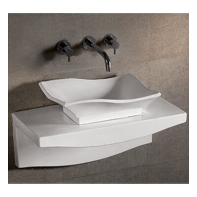 Isabella Rectangular Vessel Bathroom Sink with Overflow