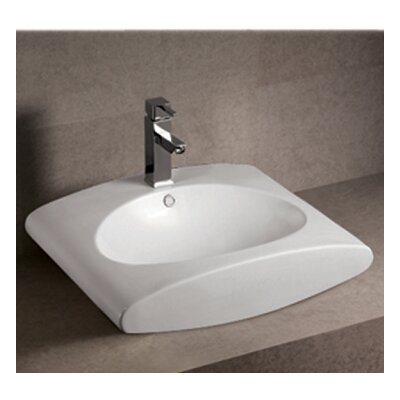 Isabella Ceramic Oval Vessel Bathroom Sink with Overflow