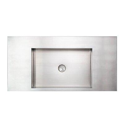 Noahs Metal Rectangular Vessel Bathroom Sink