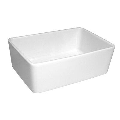 Basichaus 23.5 x 16 Non Reversible Smooth Farmhouse Fireclay Kitchen Sink