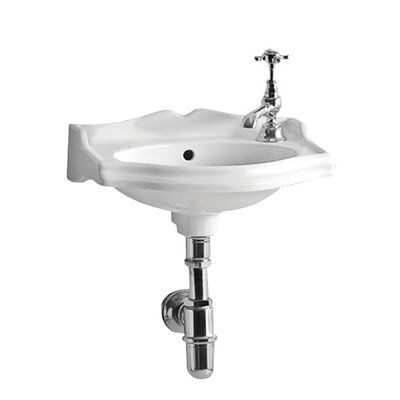 China Series Vitreous China 15 Wall Mount Bathroom Sink