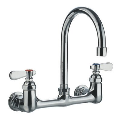 Double Handle Wall Mount Utility Faucet