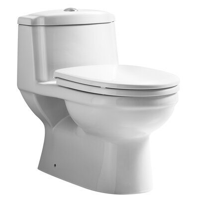 Magicflush Traditional Dual Flush Elongated One-Piece Toilet