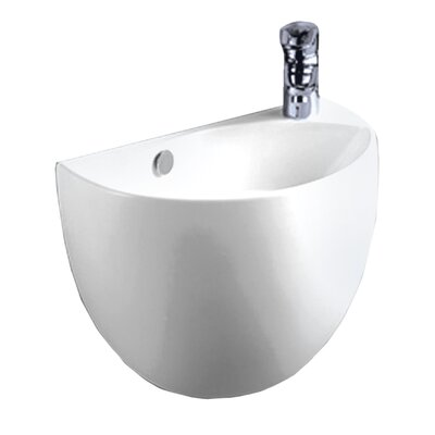 Isabella 14.5 Wall Mount Bathroom Sink with Overflow