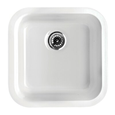 Elementhaus 18.25 x 18 Square Drop-In/Undermount Kitchen Sink