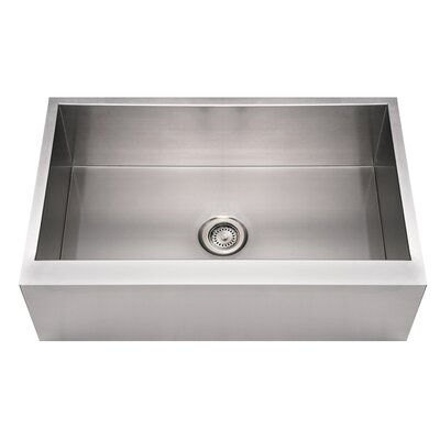 Noahs 33 x 21 Stainless Steel Commercial Single Bowl Front Farmhouse Kitchen Sink