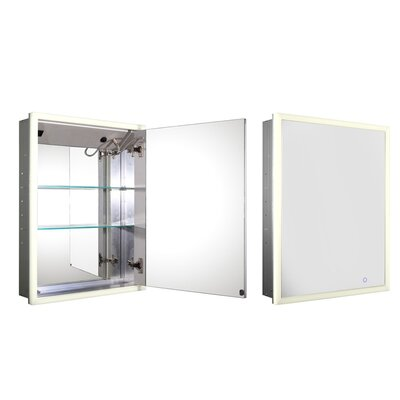 Medicinehaus 21.63 x 27.5 Recessed Medicine Cabinet with LED Lighting