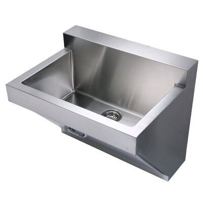 Noahs 30 x 22.25 Stainless Steel Commercial Wall Hung Laundry-Scrub Kitchen Sink