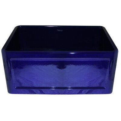 Reversible 24 x 18 Fireclay Kitchen Sink Finish: Sapphire Blue