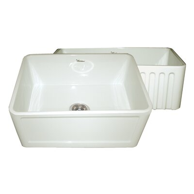 Reversible 24 x 18 Fireclay Kitchen Sink Finish: Biscuit
