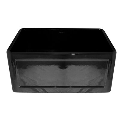 Reversible 24 x 18 Fireclay Kitchen Sink Finish: Black