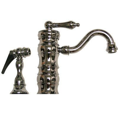 Vintage III Single Handle Kitchen Faucet with Side Spray Finish: Polished Chrome