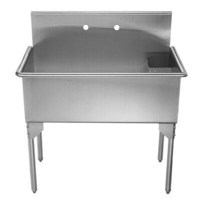 Pearlhaus 39 x 21 Single Freestanding Utility Sink