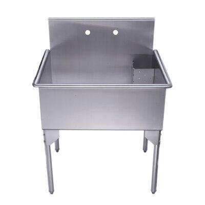Pearlhaus 33 x 27 Single Freestanding Utility Sink