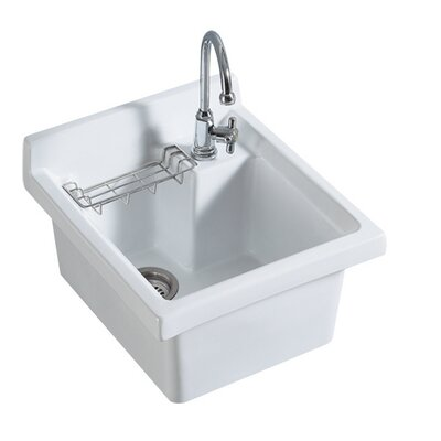 Vitreous China 21 x 21.25 Single Bowl Kitchen Sink