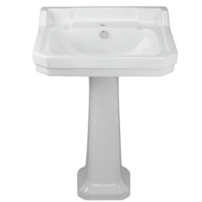 China Series 35 Pedestal Bathroom Sink with Overflow Sink Finish: Beige