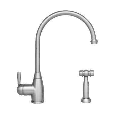 Queenhaus Single Handle Kitchen Faucet with Side Spray Finish: Chrome
