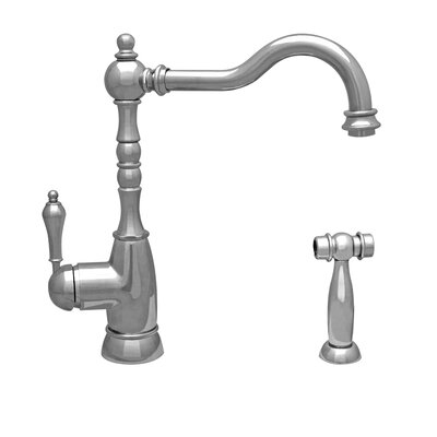 Englishhaus Single Handle Deck Mounted Standard Kitchen Faucet with Side Spray Finish: Polished Nickel