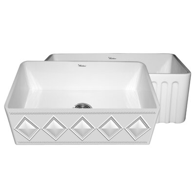 Diamondhaus 30 x 18 Kitchen Sink Finish: White