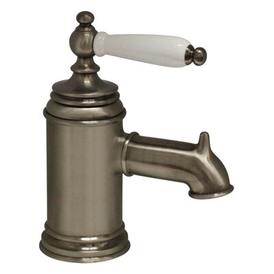 Fountainhaus Single Handle Bathroom Faucet with Pop-Up Waste Finish: Pewter