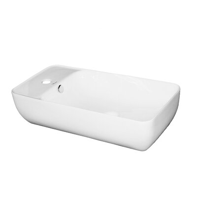 Isabella Vitreous China Specialty Vessel Bathroom Sink with Overflow