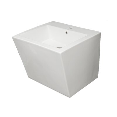 Isabella Ceramic 20 Wall Mount Bathroom Sink with Overflow