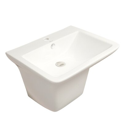 Isabella 19.25 Wall Mount Bathroom Sink with Overflow