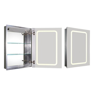 Medicinehaus 21.63 x 29.5 Recessed Medicine Cabinet with LED Lighting