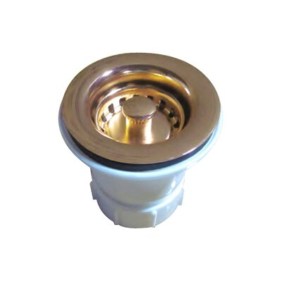 Rainbow Lift and Turn Kitchen Sink Drain Finish: Polished Brass
