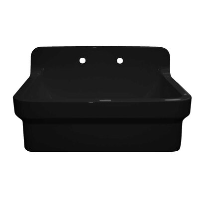 Countryhaus 30 x 22 Single Fireclay Drop-In Utility Sink Sink Finish: Black