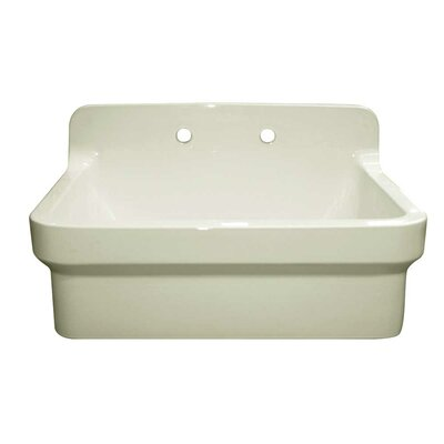 Countryhaus 30 x 22 Single Fireclay Drop-In Utility Sink Sink Finish: Biscuit