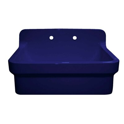 Countryhaus 30 x 22 Single Fireclay Drop-In Utility Sink Sink Finish: Sapphire Blue