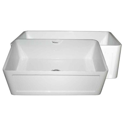 Reversible 27 x 19 1 Basin Farmhouse Kitchen Sink Finish: White
