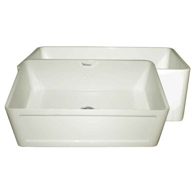 Reversible 27 x 19 1 Basin Farmhouse Kitchen Sink Finish: Biscuit