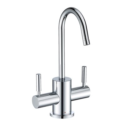 Point of Use Double Handle Deck Mounted Standard Kitchen Faucet Finish: Polished Chrome