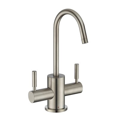 Point of Use Double Handle Deck Mounted Standard Kitchen Faucet Finish: Brushed Nickel