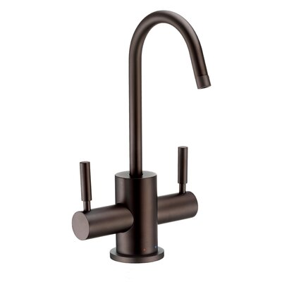 Point of Use Double Handle Deck Mounted Standard Kitchen Faucet Finish: Oil Rubbed Bronze