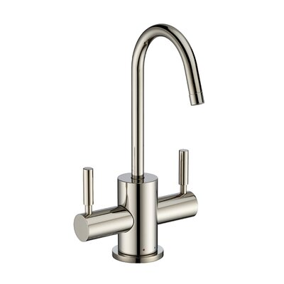 Point of Use Double Handle Deck Mounted Standard Kitchen Faucet Finish: Polished Nickel