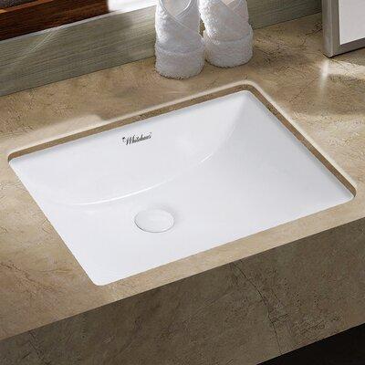 Isabella Plus Vitreous China Rectangular Undermount Bathroom Sink with Overflow