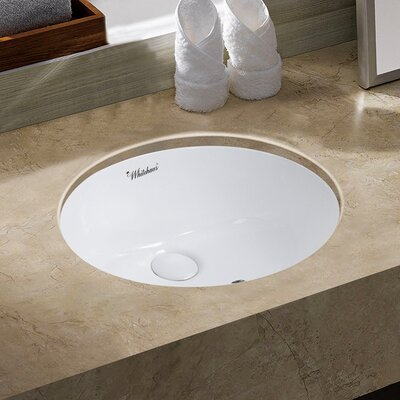 Isabella Plus Oval Undermount Bathroom Sink with Overflow