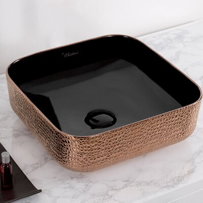Isabella Plus Vitreous China Square Vessel Bathroom Sink