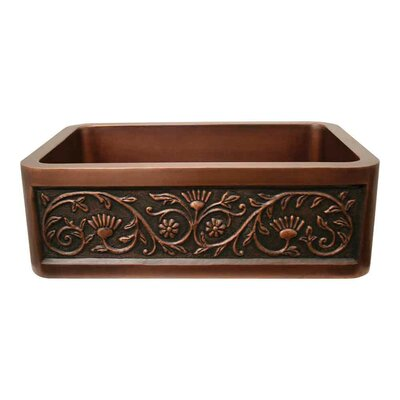 Copperhaus 30 x 20 Rectangular Undermount Kitchen Sink Finish: Smooth Copper